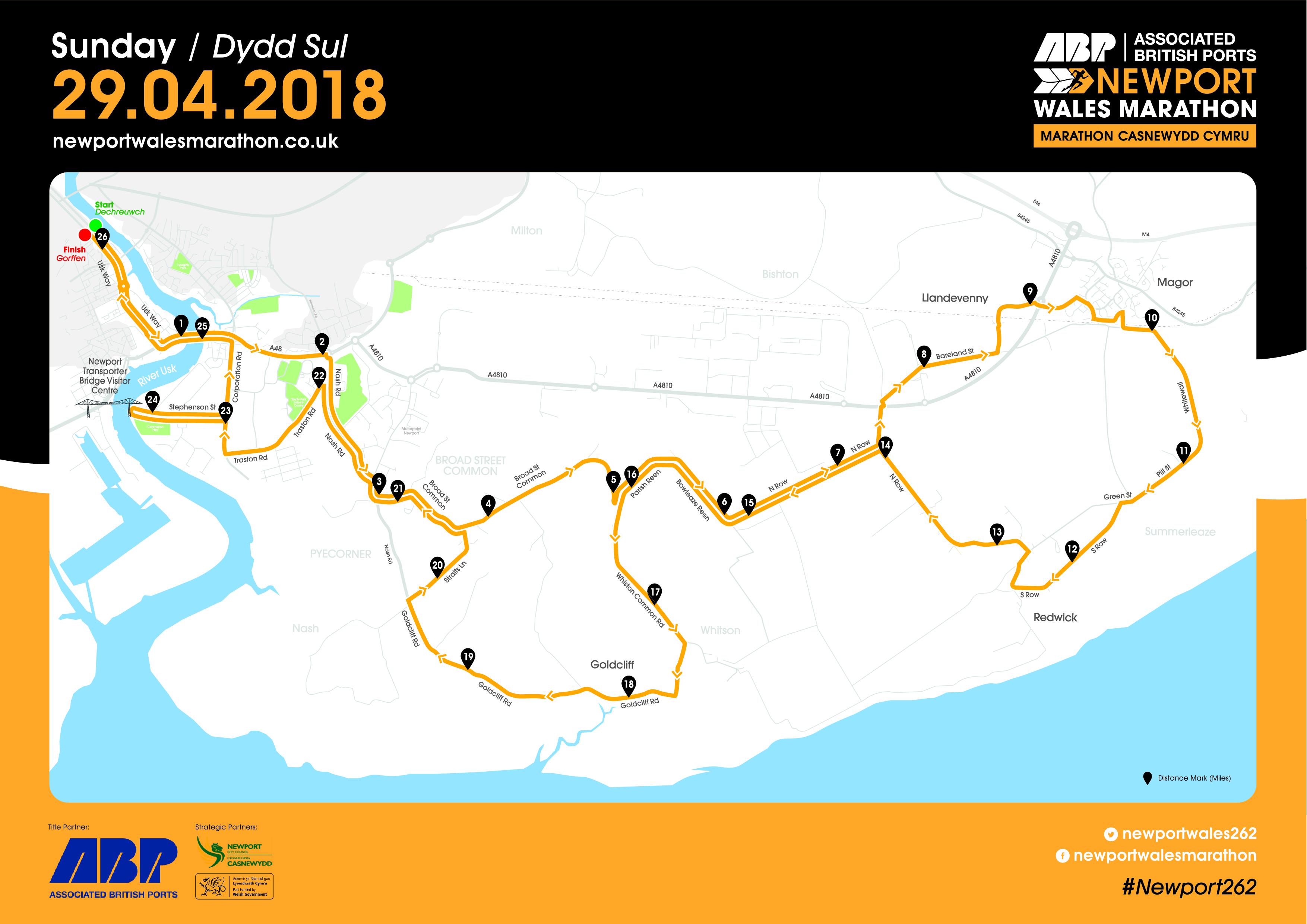 Newport Marathon Route